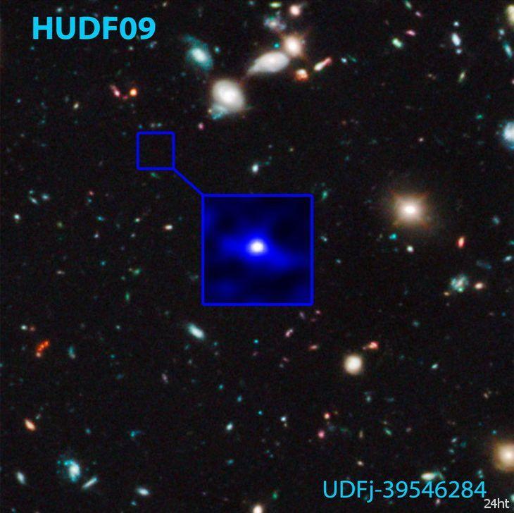Хаббл нашел самую удаленную и древнюю галактику во Вселенной