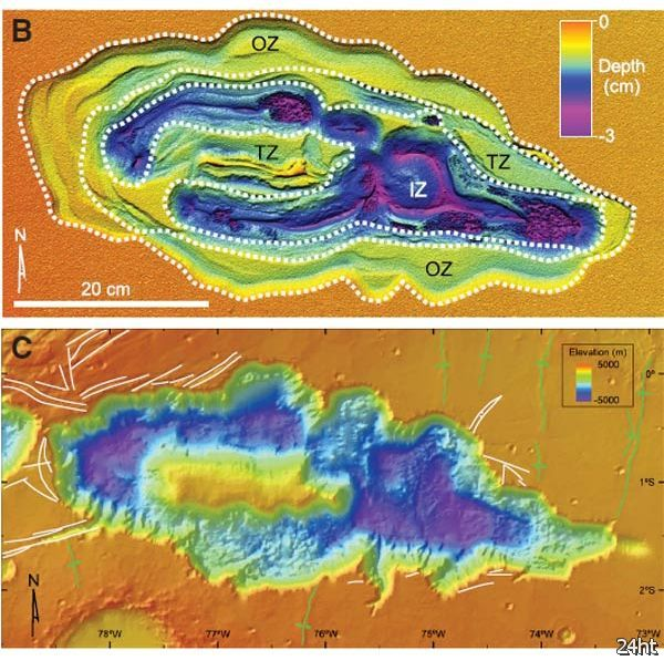 Причиной возникновения марсианского каньона Hebes Chasma может быть талая вода