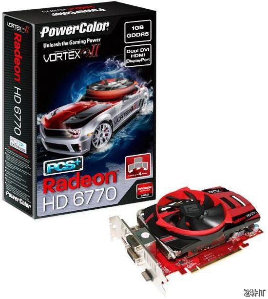 Анонс видеокарты PowerColor PCS+ Radeon HD 6770 Vortex II Edition