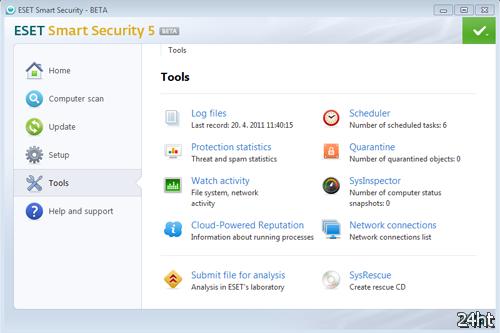 ESET начала публичное бета-тестирование Smart Security 5 и NOD32 Antivirus 5