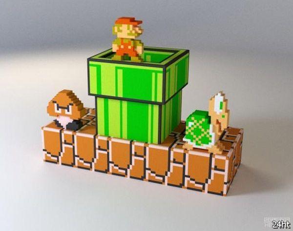 Mariorama: Super Mario напечатали в 3D