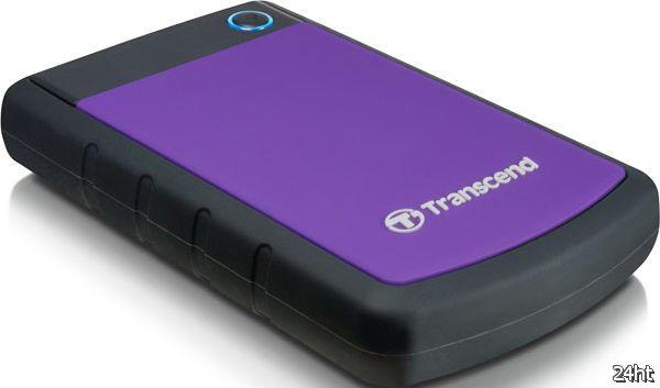 Портативные жёсткие диски Transcend StoreJet с большой ёмкостью 1 ТБ и поддержкой USB 3.0 и USB 2.0