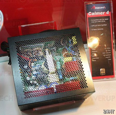 Блок питания AmacroX Calmer 4 мощностью 500 Вт обходится без вентиляторов