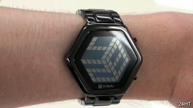 """Часы с """"трехмерной"""" индикацией от Tokyoflash (2 видео)"""