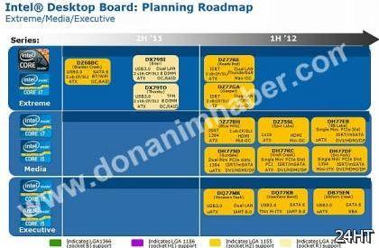 Intel выпустит 11 системных плат для процессоров Ivy Bridge в первой половине 2012 года