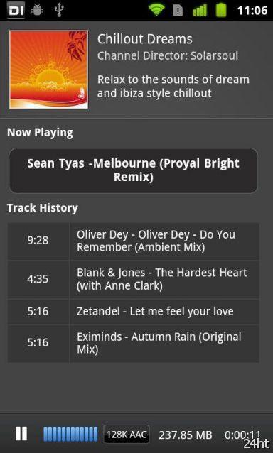 Digitally Imported Radio – радиотрансляция электронной музыки в твоем Android