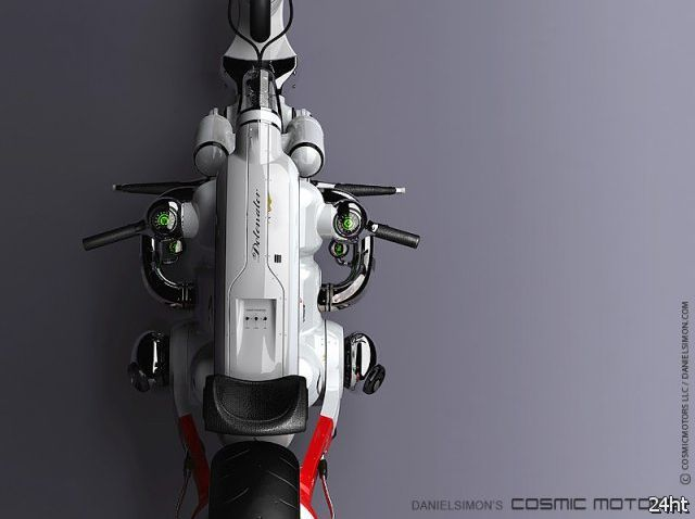 Футуристический электробайк Detonator (4 фото)