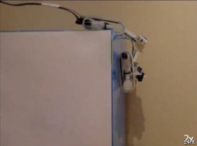Гусеничный робот ездящий по стенам (видео)