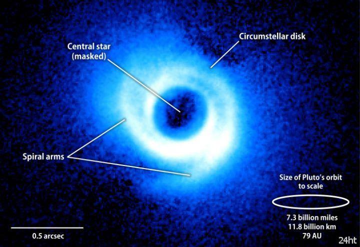 Найдена первая звезда со спиральными рукавами