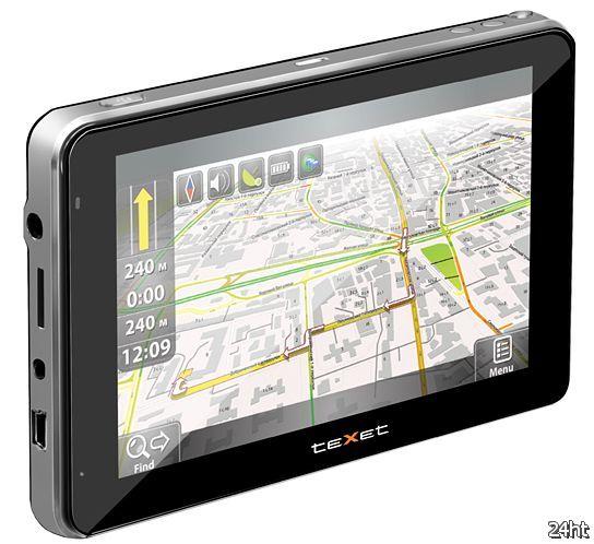 teXet TN-550A - первый GPS навигатор на базе Google Android (3 фото)