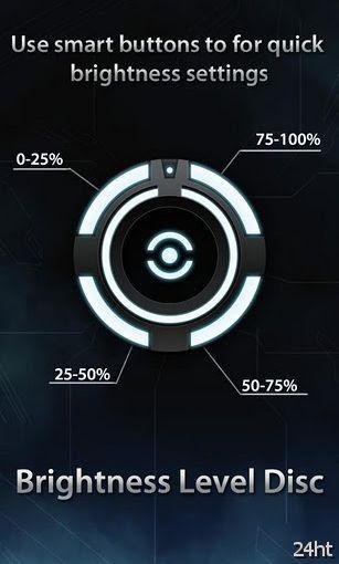 Brightness level disk 1.0 - Виджет переключения уровня яркости экрана
