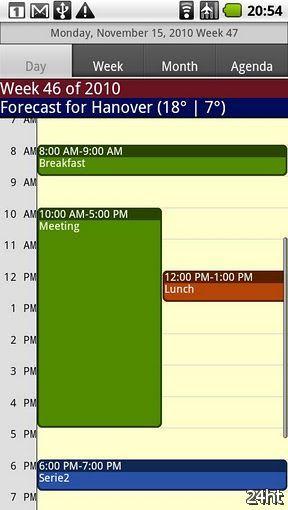CalenGoo 1.0.62 - Календарь с возможностью синхронизации Gmail