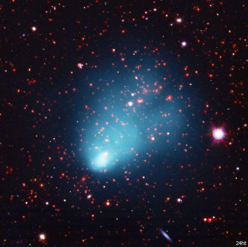 Галактический кластер El Gordo является самым большим известным кластером