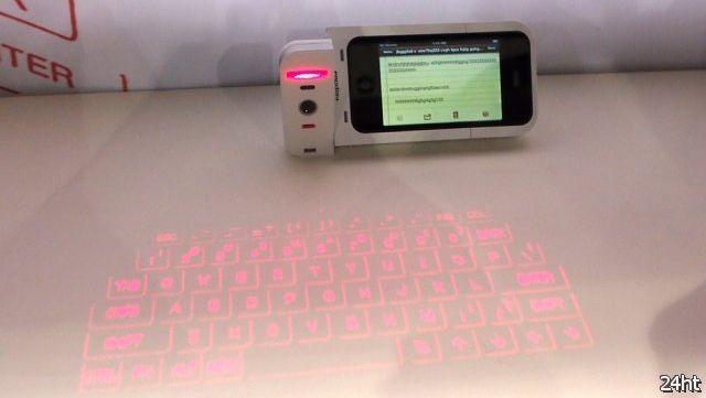 Лазерная проекционная клавиатура для iPhone (2 фото)