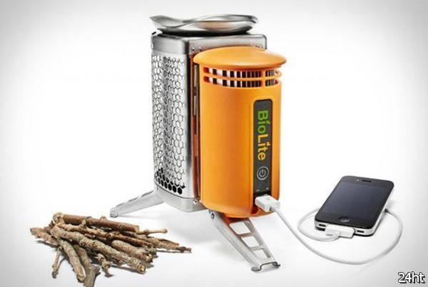 Зарядное устройство работающее на дровах (3 фото + видео)