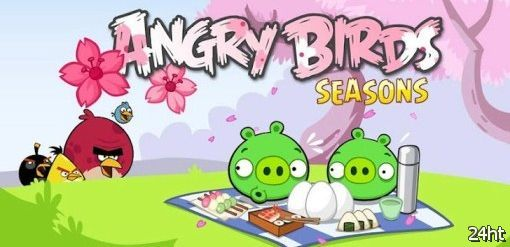 Angry Birds Seasons Cherry Blossom уже доступна для загрузки