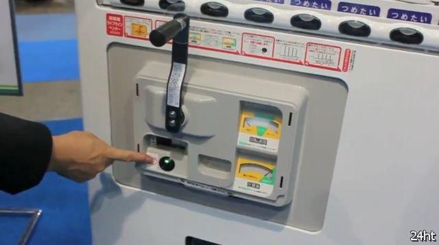 Автомат для продажи напитков с ручным приводом (видео)