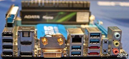 CeBIT 2012: материнская плата Asus P8Z77-I Deluxe на чипсете Z77