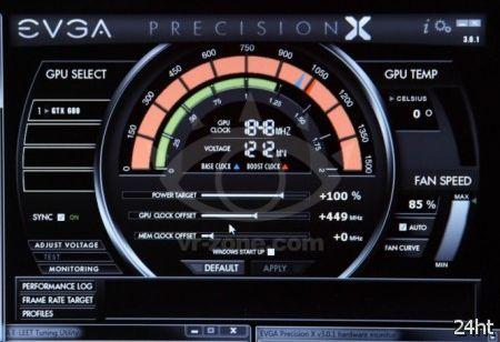 EVGA GeForce GTX 680 устанавливает рекорд в скорости 1842МГц для ядра