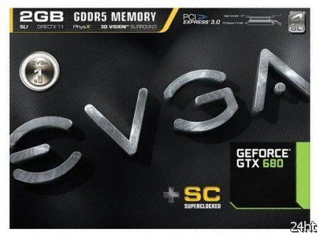 EVGA представила видеокарту GeForce GTX 680 Superclocked