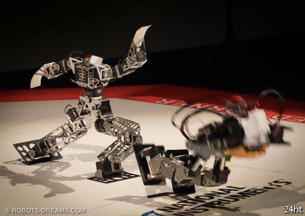 Гладиаторские бои роботов (видео)