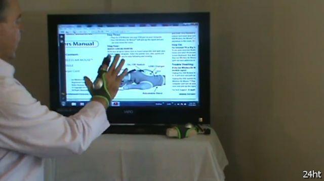 Компьютерная мышь-перчатка (видео)