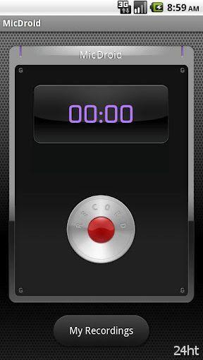 MicDroid 0.46 - позволяет записывать голос, делать аранжировку