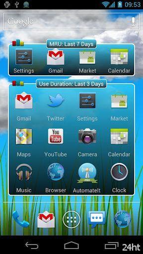 My Top Apps 1.1.0 - Приложение сортирует ваши игры и приложения по частоте их использования