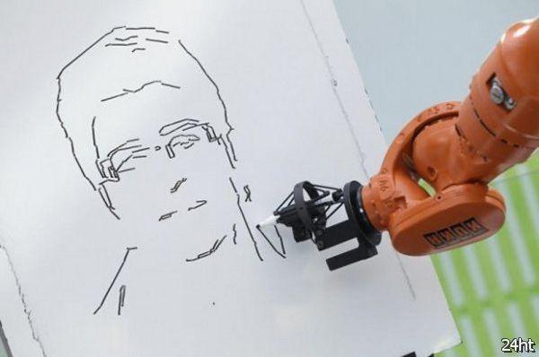 Робот-художник (видео)