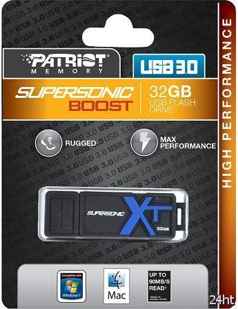 Скоростные «флэшки» Patriot Supersonic Boost XT заключены в прорезиненные корпуса