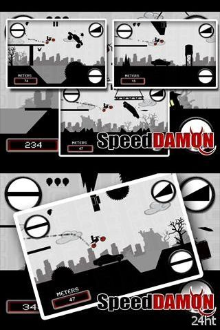Speed Damon 1.5 - runner на мотоцикле