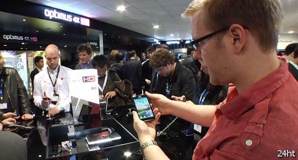 Стенд LG на выставке MWC 2012 (видео)