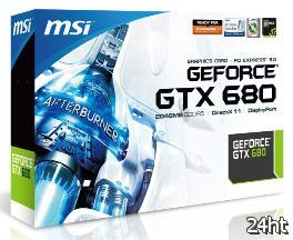 У MSI GeForce GTX 680 появился ценник в 492 евро