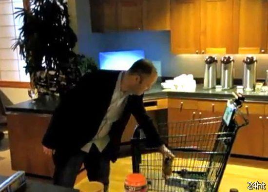 Умная продуктовая тележка (видео)