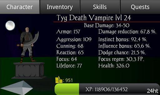 Vampire's Fall 1.133 - Простая, но захватывающая РПГ о вампире