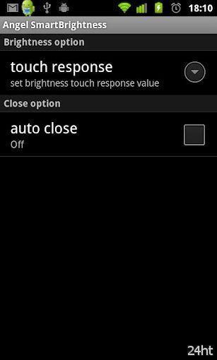 Angel SmartBrightness 1.14 - Изменение яркости экрана с помощью мультитача