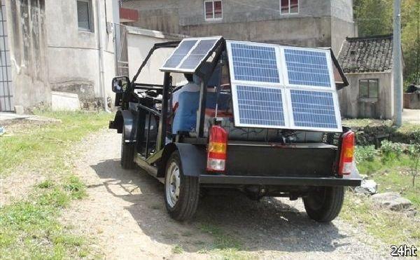 Китайский студент собрал собственный солнечный автомобиль за $ 2400