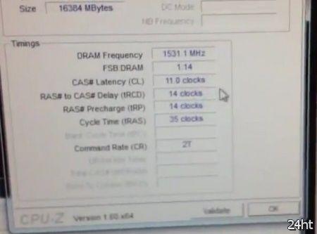 Комплект памяти G.Skill из четырех планок разогнали до 3077 МГц