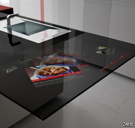 Кухня Toncelli Smart Prisma со встроенным Samsung Galaxy Tablet