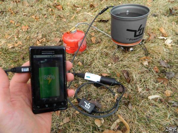 PowerPot - термоэлектрическая зарядка для гаджетов (видео)