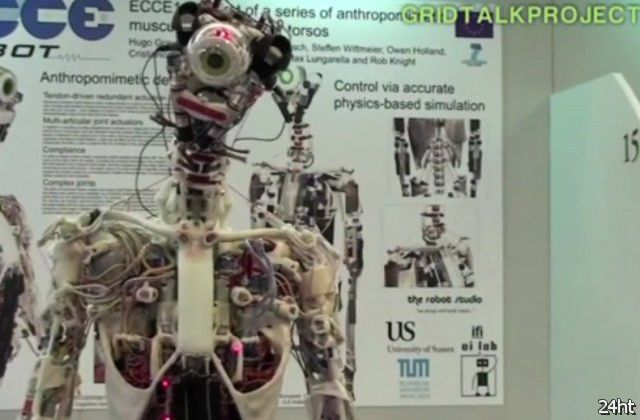 Робот с анатомическим строением человека (видео)