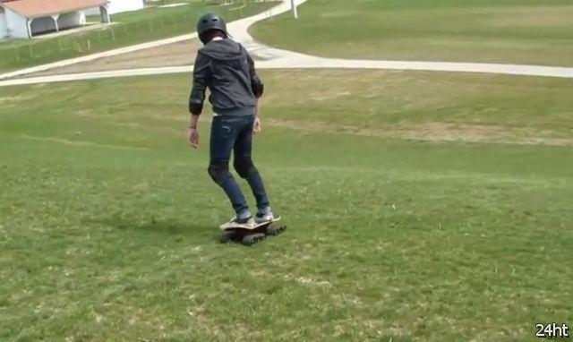 Скейтборд на гусеничном ходу (видео)