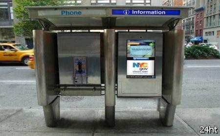 Таксофоны Нью-Йорка оснастят сенсорными панелями