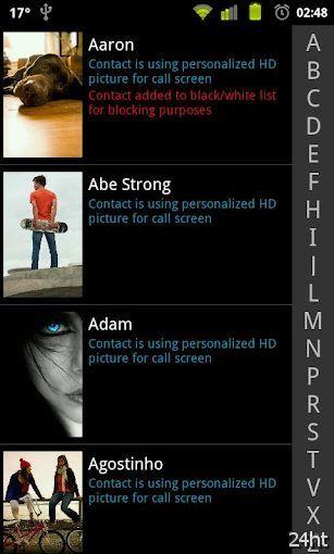 Ultimate Call Screen HD 1.0.0 - Программа для вывода фото звонящего на весь экран