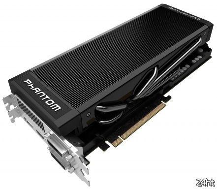 Ускоритель Gainward GeForce GTX 680 Phantom: оригинальные кулер и печатная плата, повышенные частоты