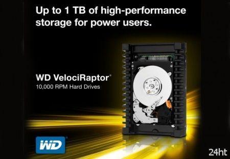 Western Digital представила жесткий диск VelociRaptor объемом 1 Тб