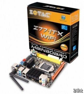Zotac показала две материнские платы Mini-ITX на чипсетах Z77 и H77