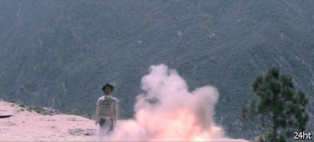 Испытания боевого дрона-бомбардировщика (видео)