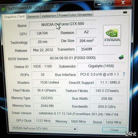 Появились новые подробности о 3D-карте Gigabyte GTX 680 SOC с пятью вентиляторами, включая тактовые частоты и цену