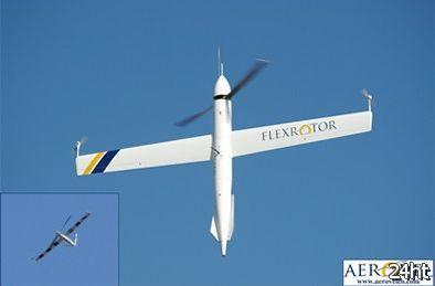 Разведовательный беспилотник с вертикальном взлетом и посадкой (видео)